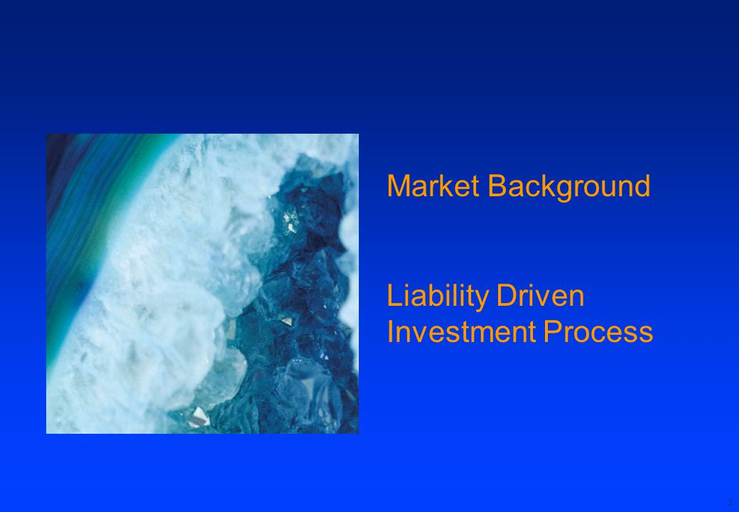 Market Background Liability Driven Investment Process