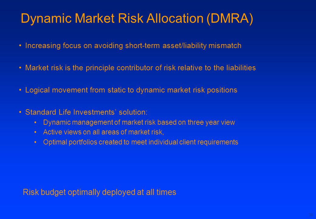 Dynamic Market Risk Allocation (DMRA)