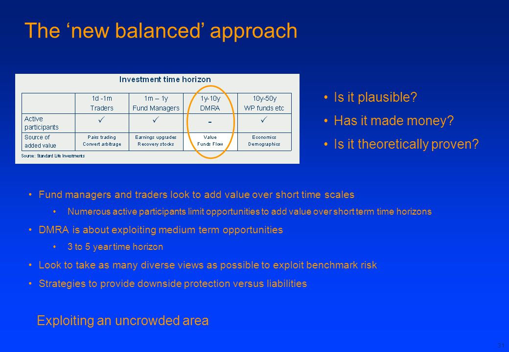 The 'new balanced' approach