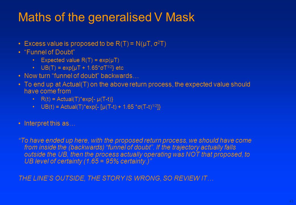 Maths of the generalised V Mask