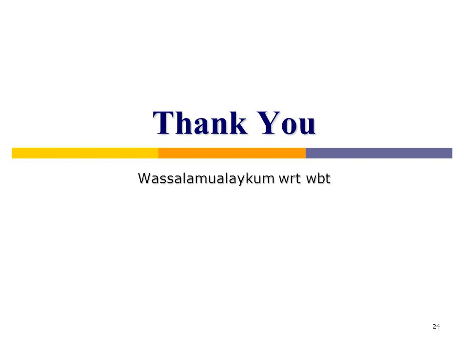 Wassalamualaykum wrt wbt