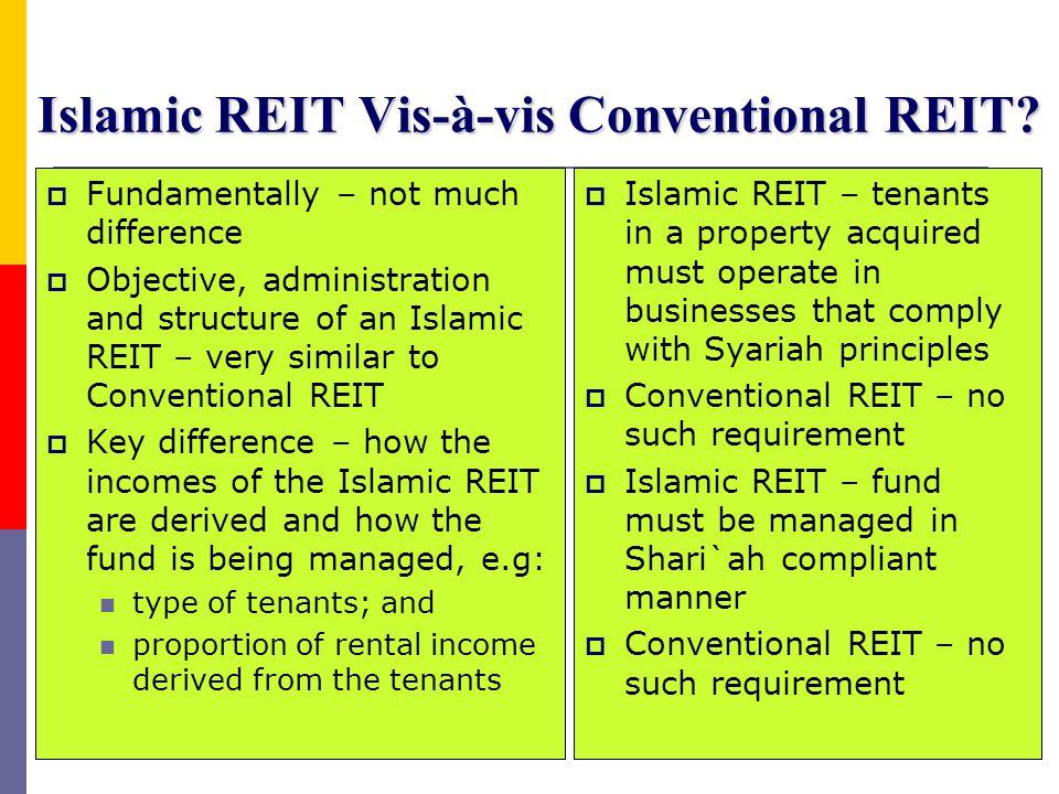 Islamic REIT Vis-à-vis Conventional REIT