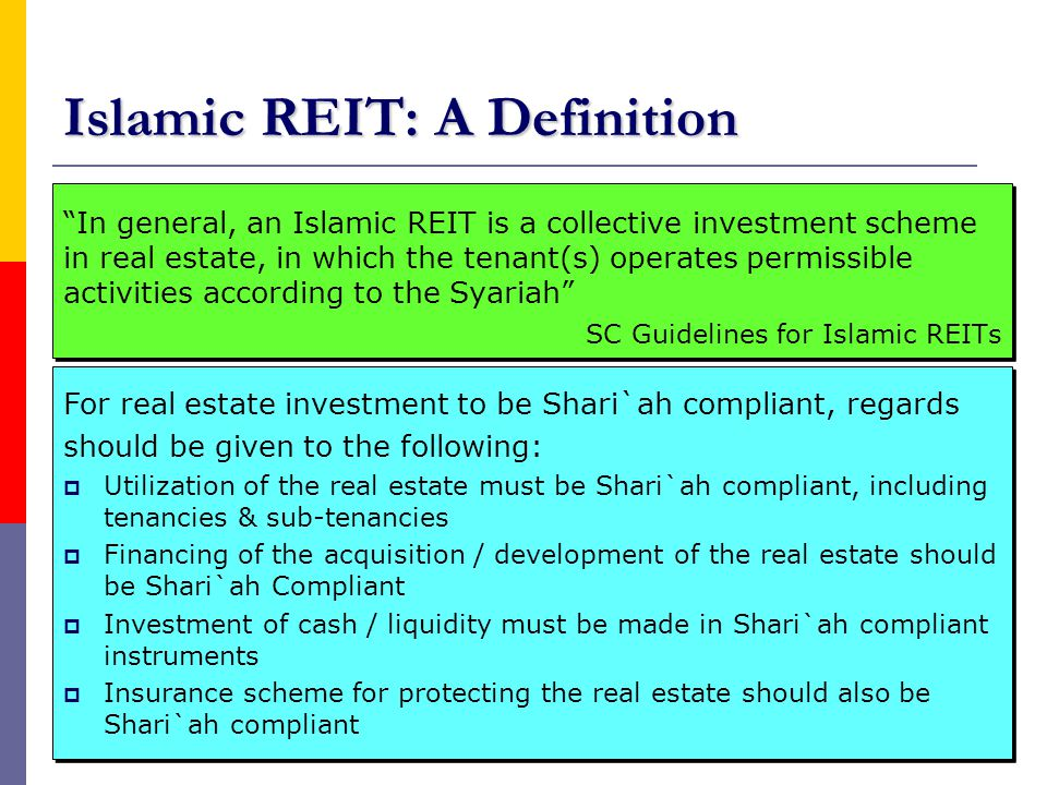 Islamic REIT: A Definition