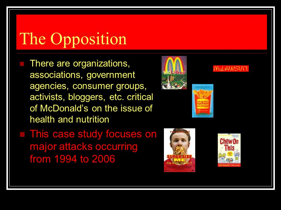 mcdonald case study 2 essay The mission statement of mcdonald's fast food restaurants is a common  in  1997, for example, the company had registered 10 years of 2 per cent per annum  growth  in the case of mc libel, which is the longest trial in uk history, the two .