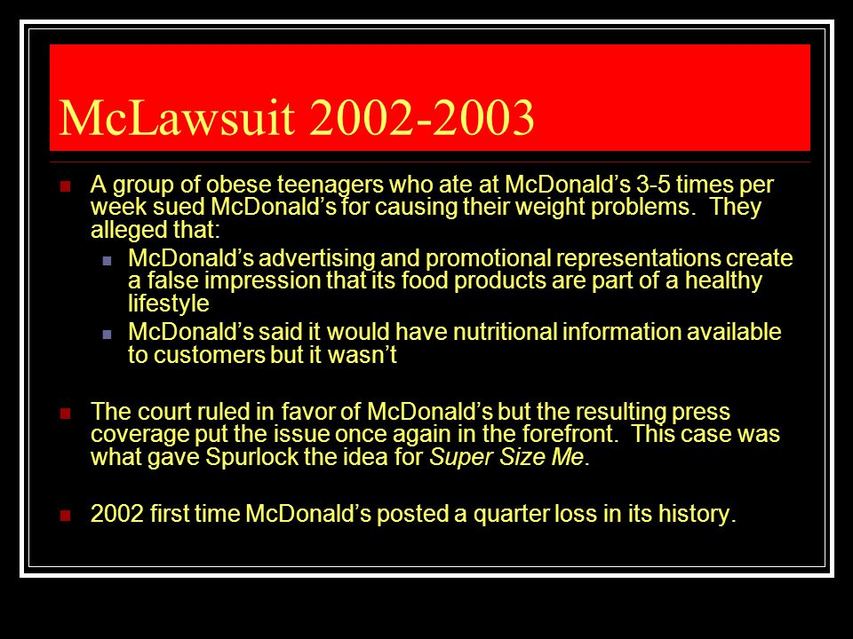McLawsuit 2002-2003