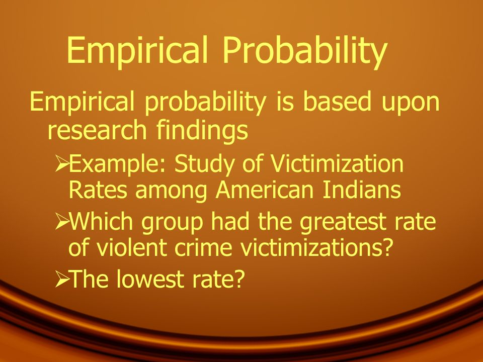 Empirical Probability