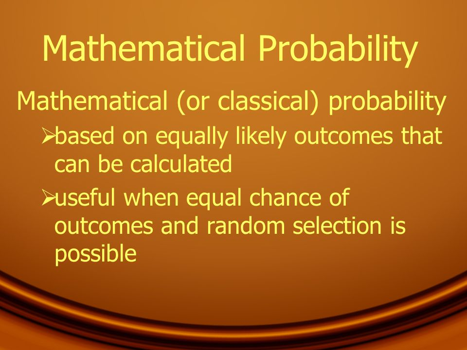 Mathematical Probability