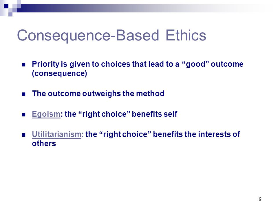 Consequence-Based Ethics