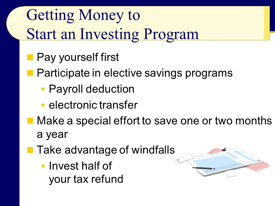 Getting Money to Start an Investing Program