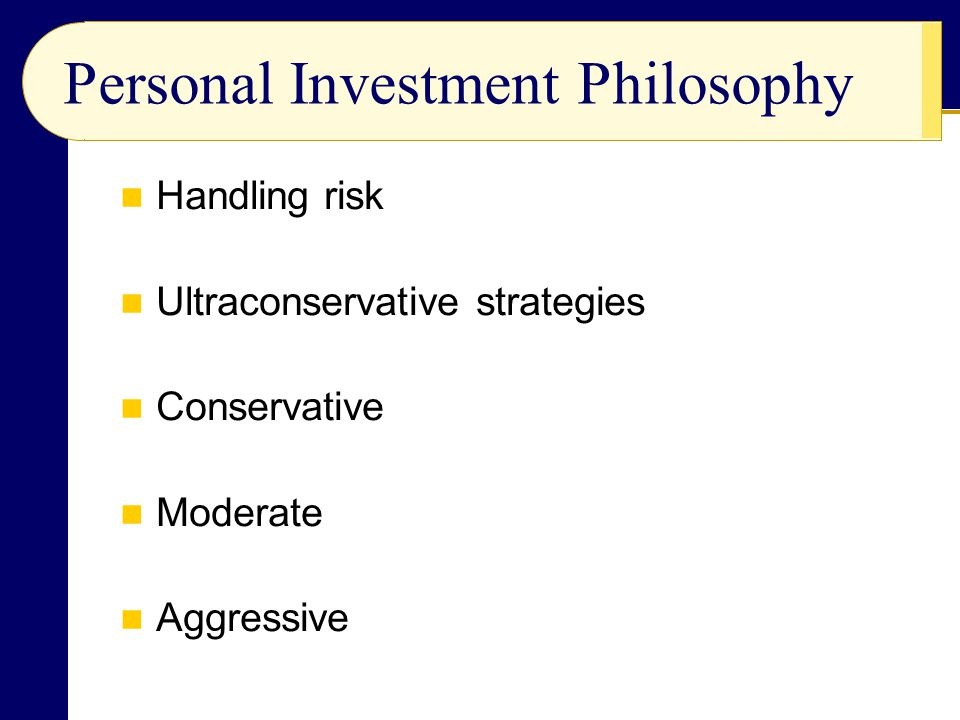 Personal Investment Philosophy
