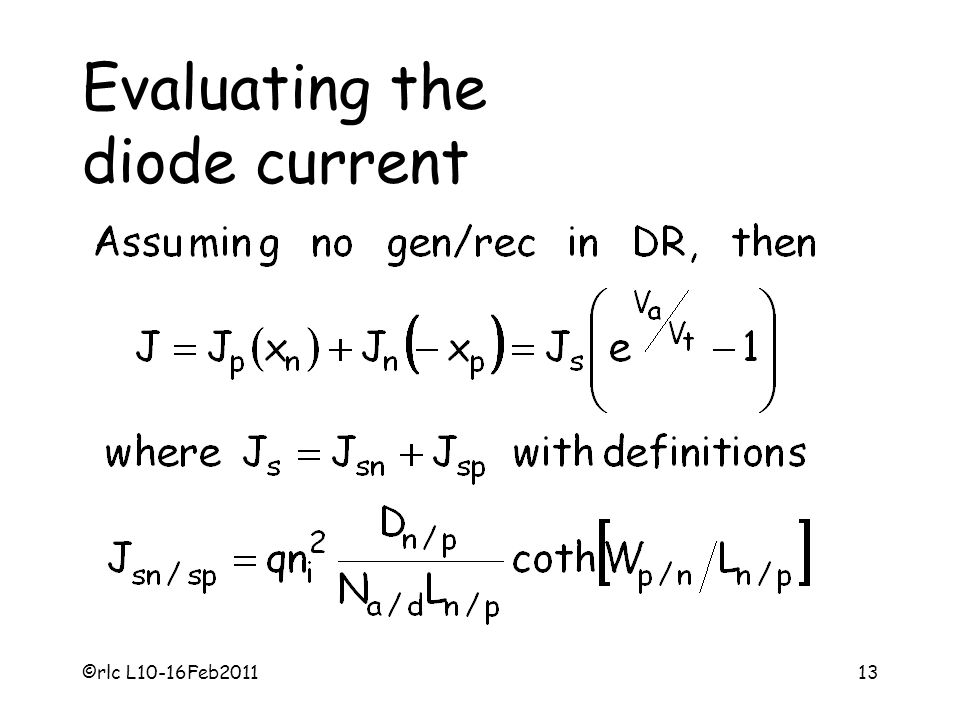 Evaluating the diode current