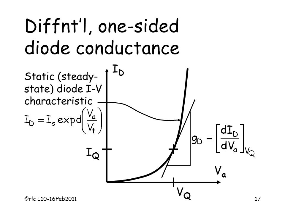 Diffnt'l, one-sided diode conductance