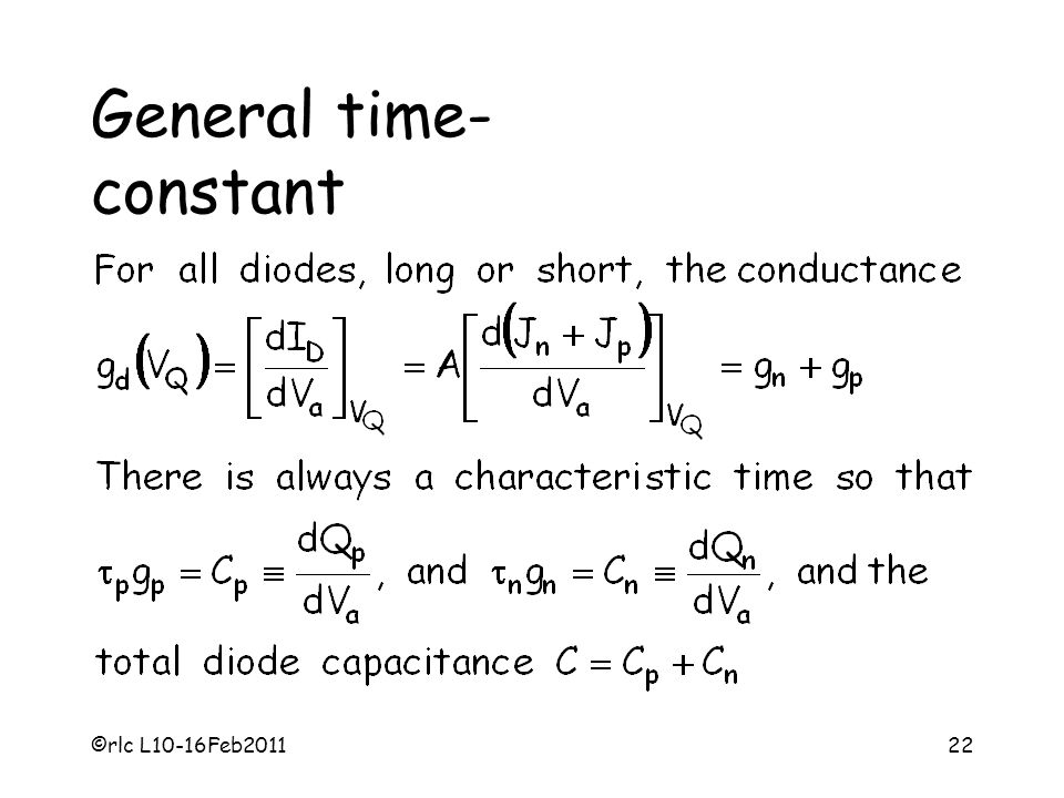 General time- constant