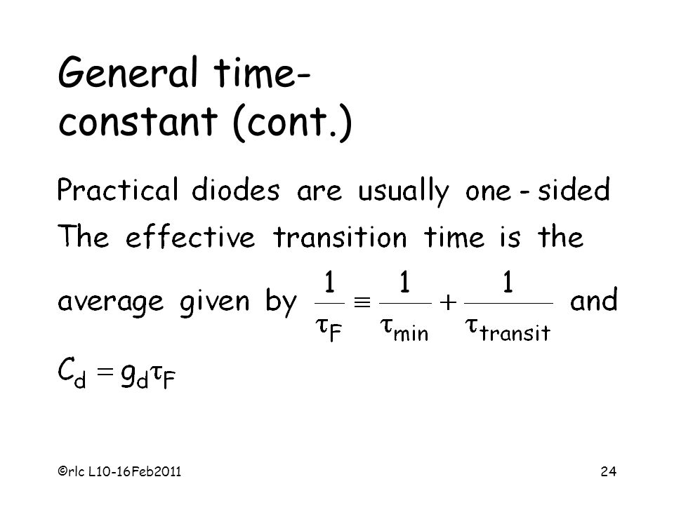 General time- constant (cont.)