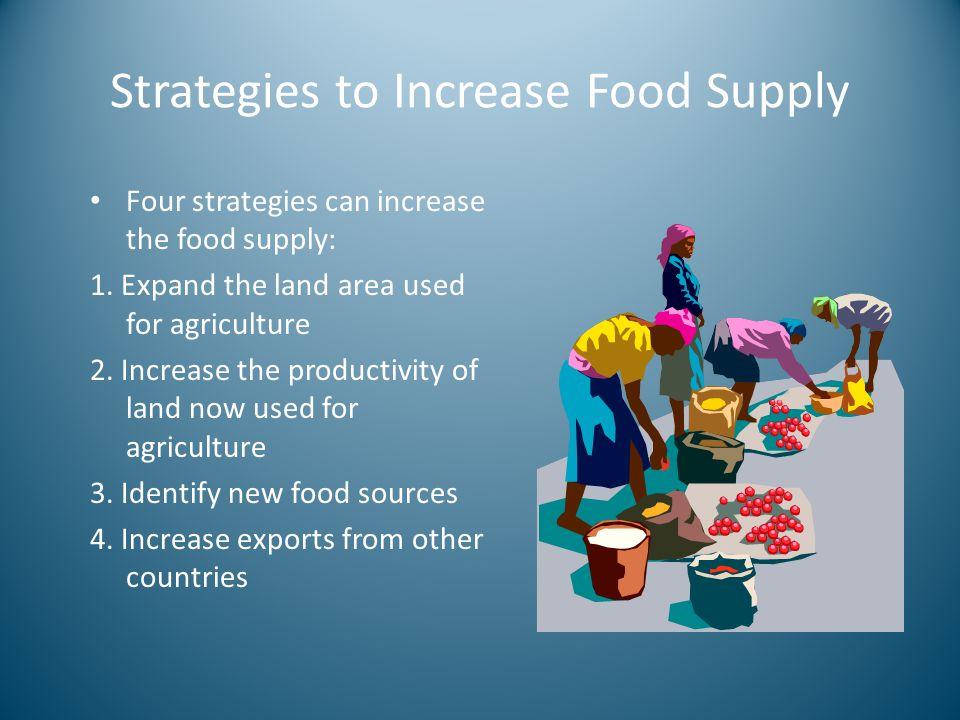 Strategies to Increase Food Supply