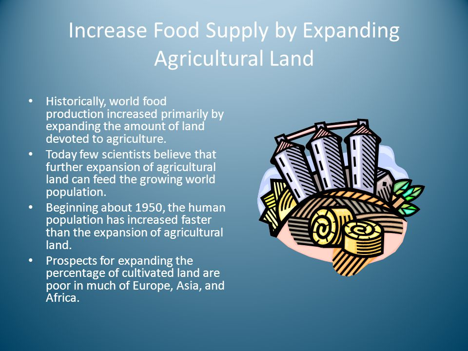 Increase Food Supply by Expanding Agricultural Land