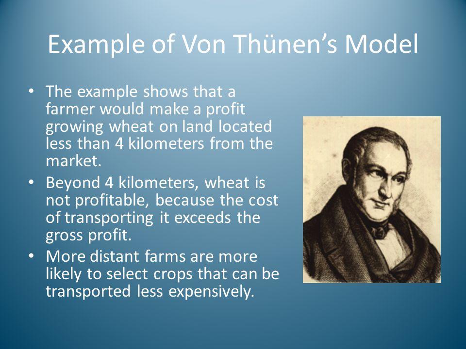 Example of Von Thünen's Model