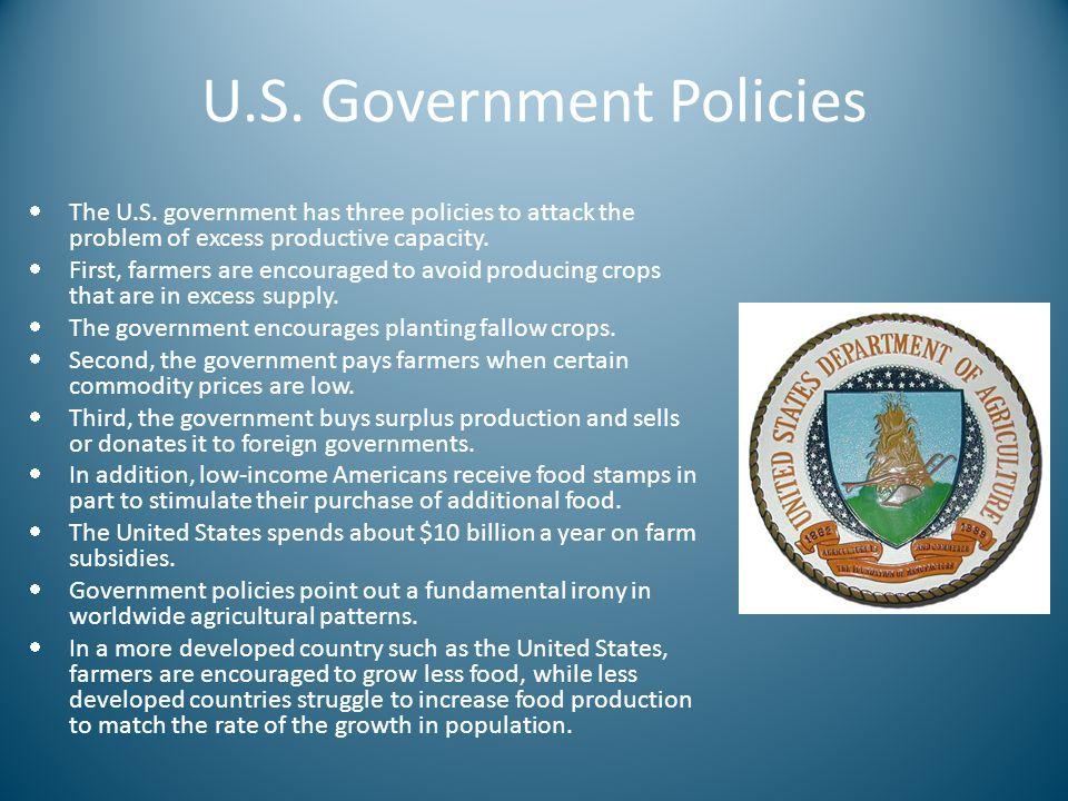 U.S. Government Policies