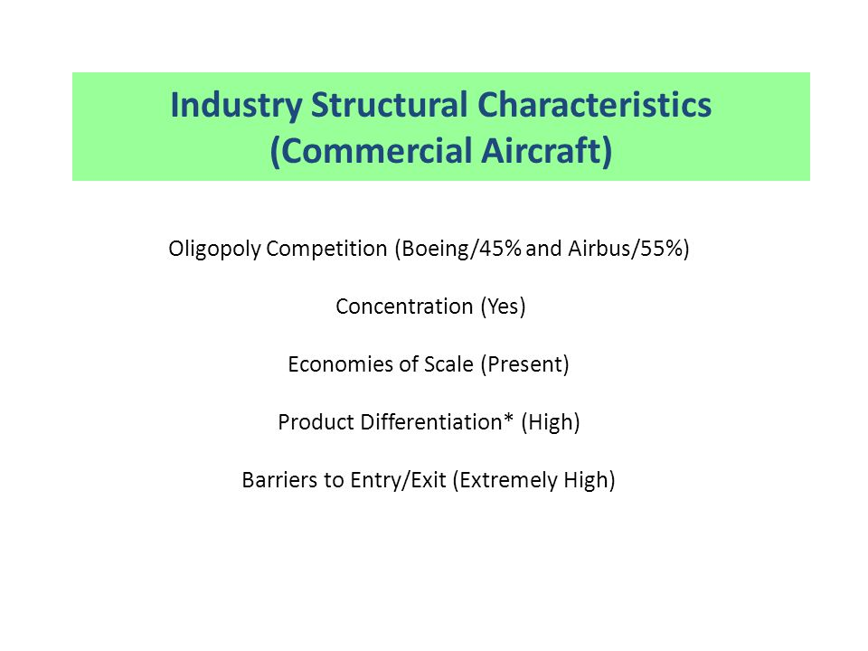 Industry Structural Characteristics (Commercial Aircraft)