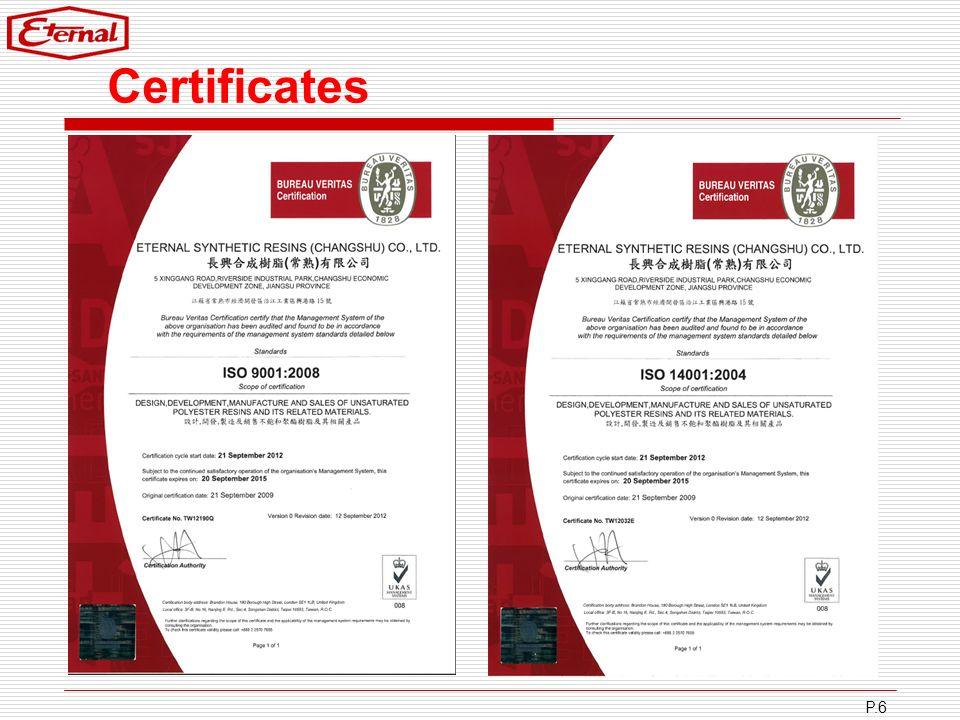 Certificates P.6