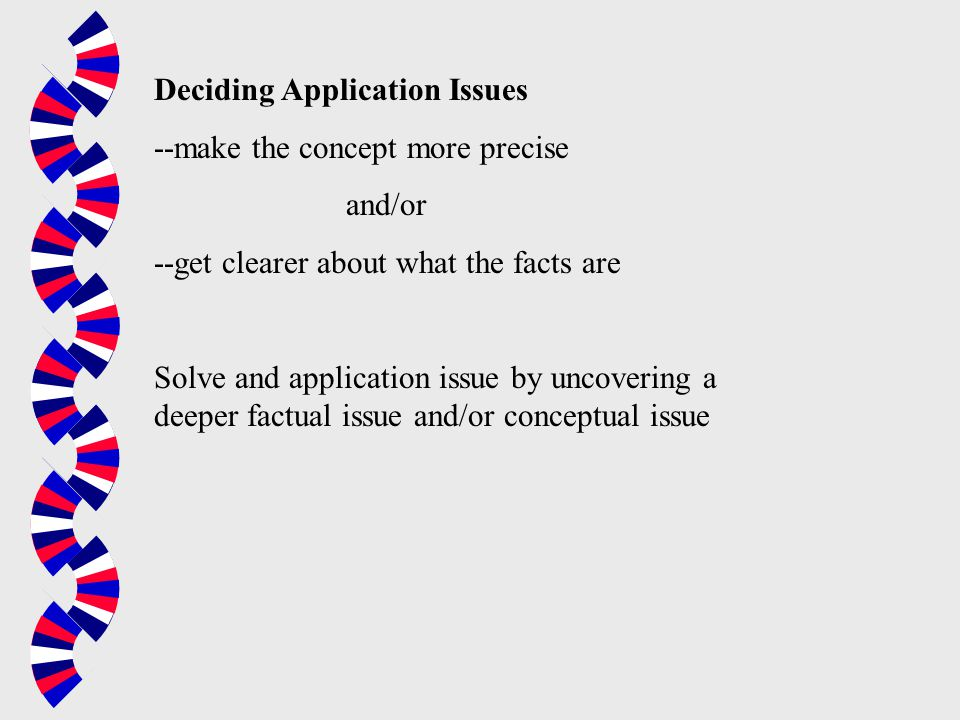 Deciding Application Issues