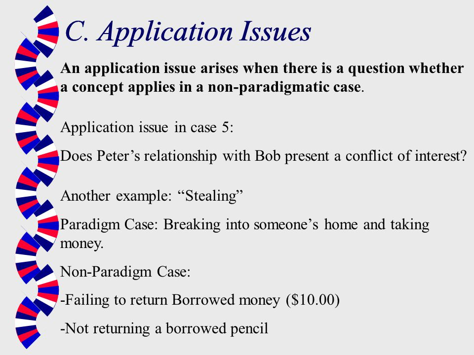 C. Application Issues C. Application Issues