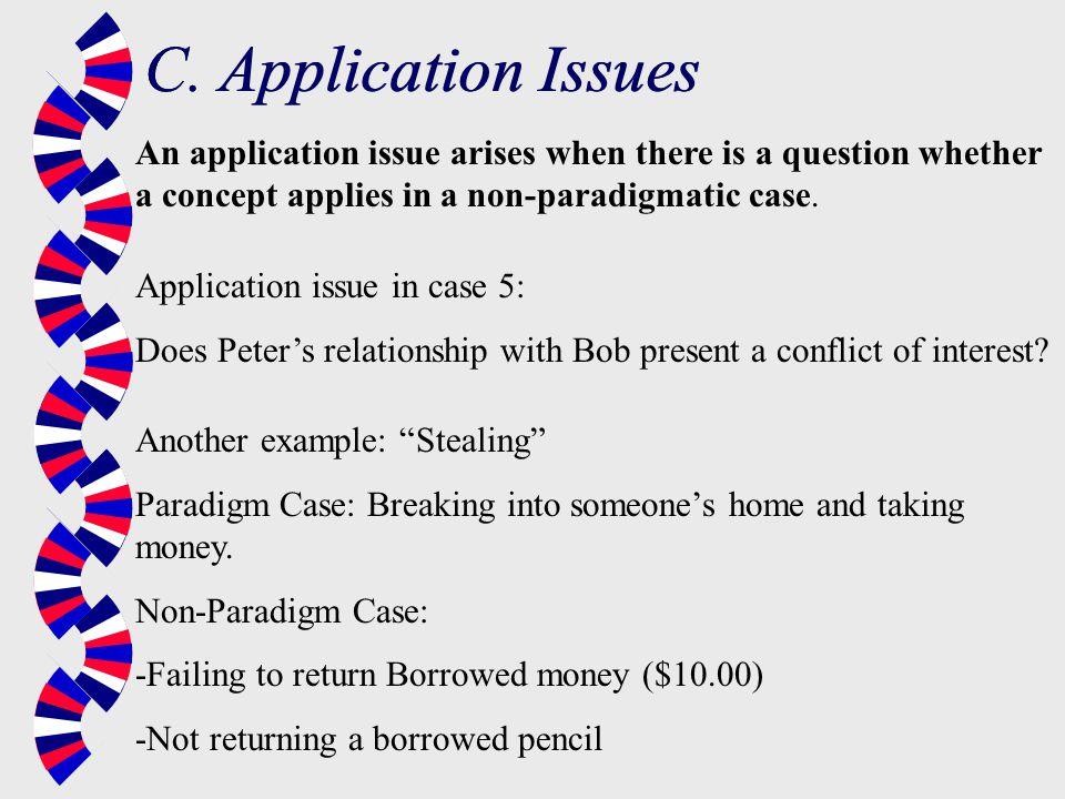 C. Application Issues C. Application Issues