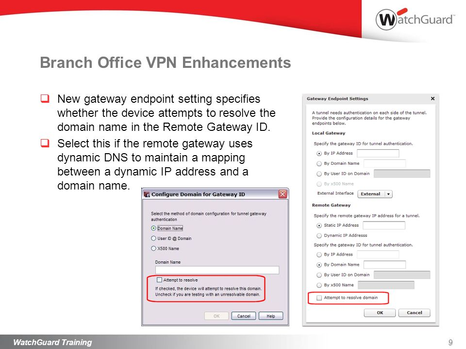 Branch Office VPN Enhancements