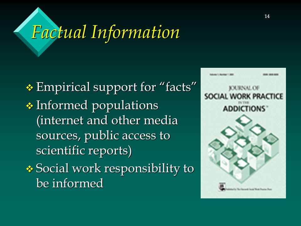 Factual Information Empirical support for facts