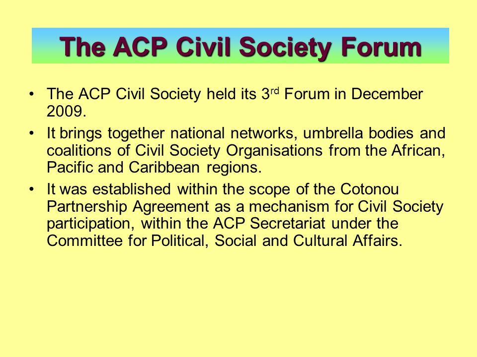 The ACP Civil Society Forum