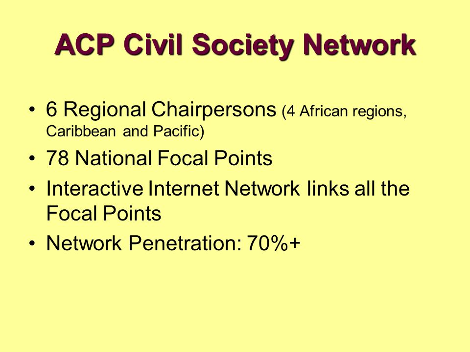 ACP Civil Society Network
