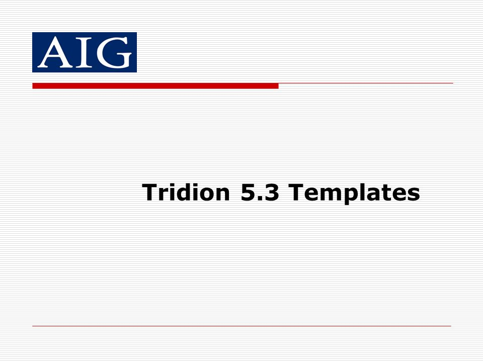 Tridion 5.3 Templates