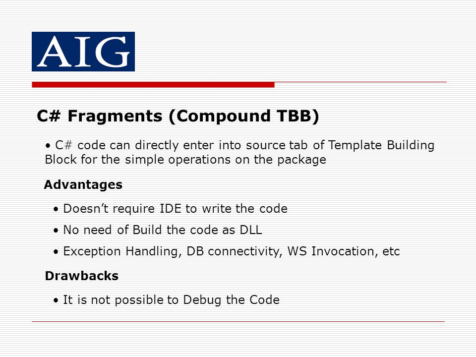 C# Fragments (Compound TBB)