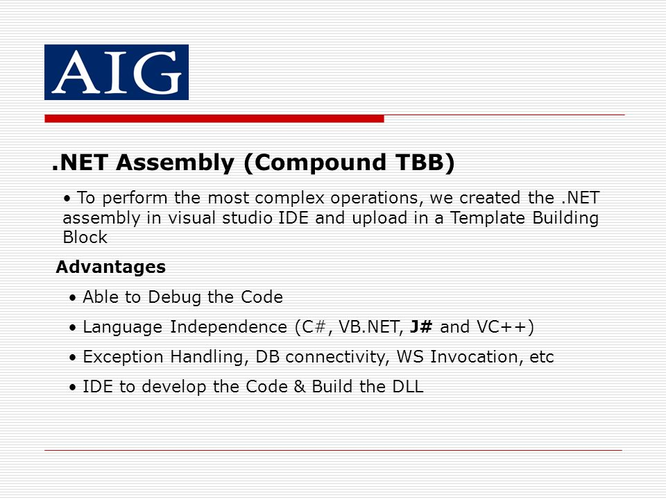 .NET Assembly (Compound TBB)