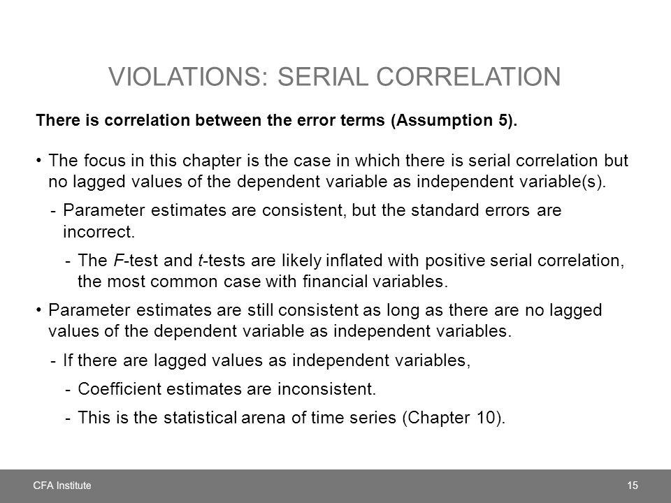 Violations: serial correlation