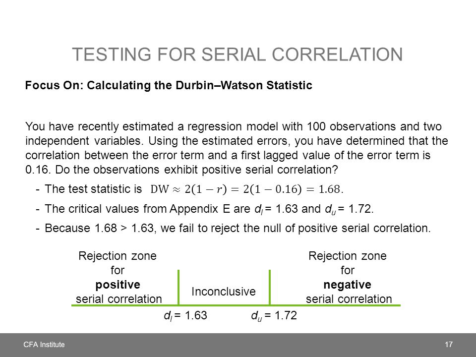 Testing for serial correlation