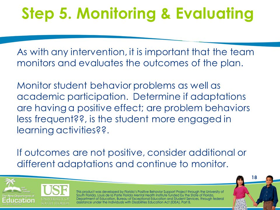 Step 5. Monitoring & Evaluating