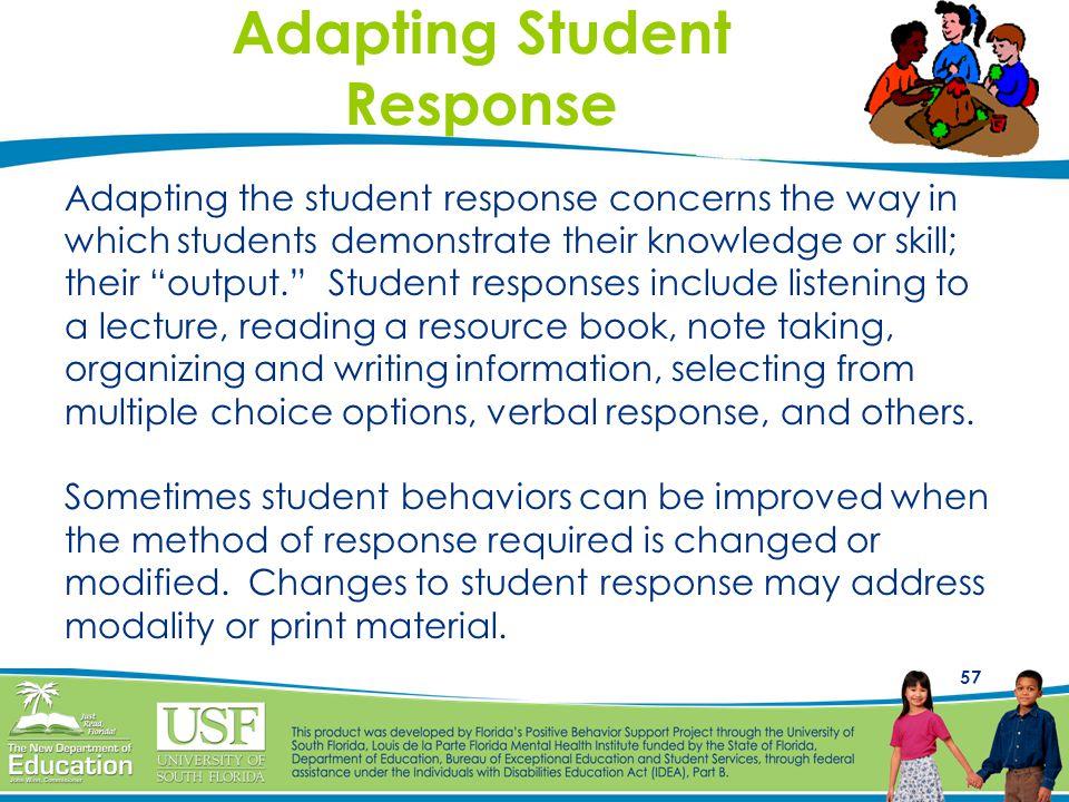 Adapting Student Response