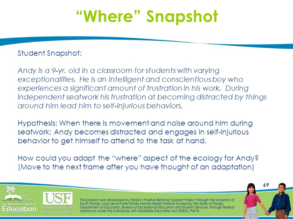 Where Snapshot Student Snapshot: