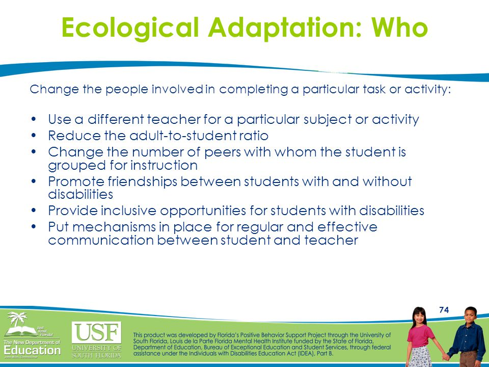 Ecological Adaptation: Who
