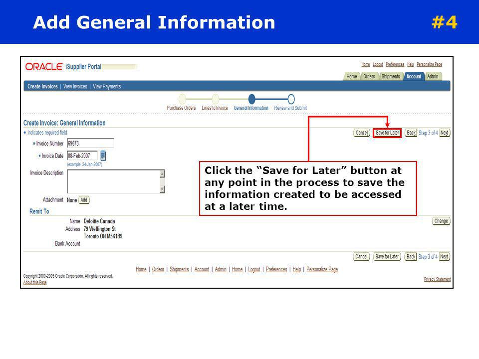 Add General Information