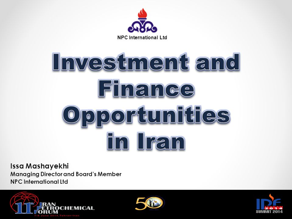 Investment and Finance Opportunities in Iran