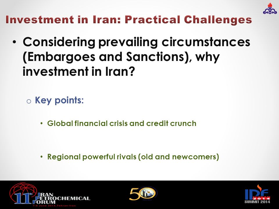 Investment in Iran: Practical Challenges