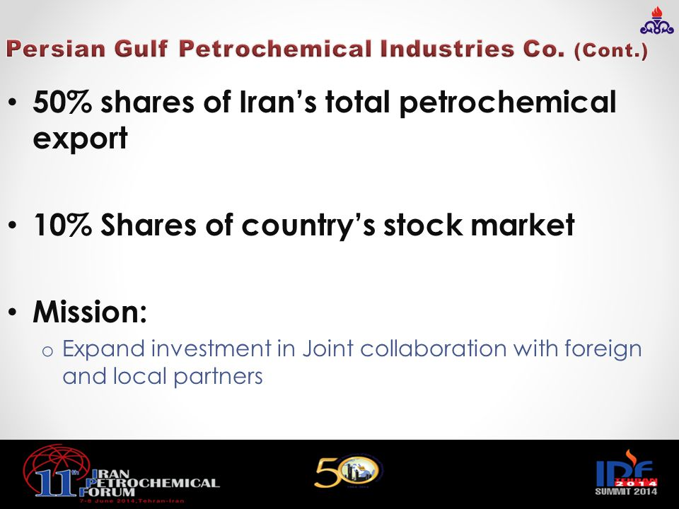 Persian Gulf Petrochemical Industries Co. (Cont.)