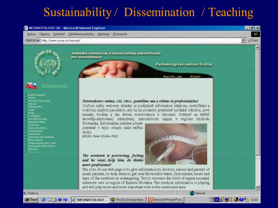 Sustainability / Dissemination / Teaching