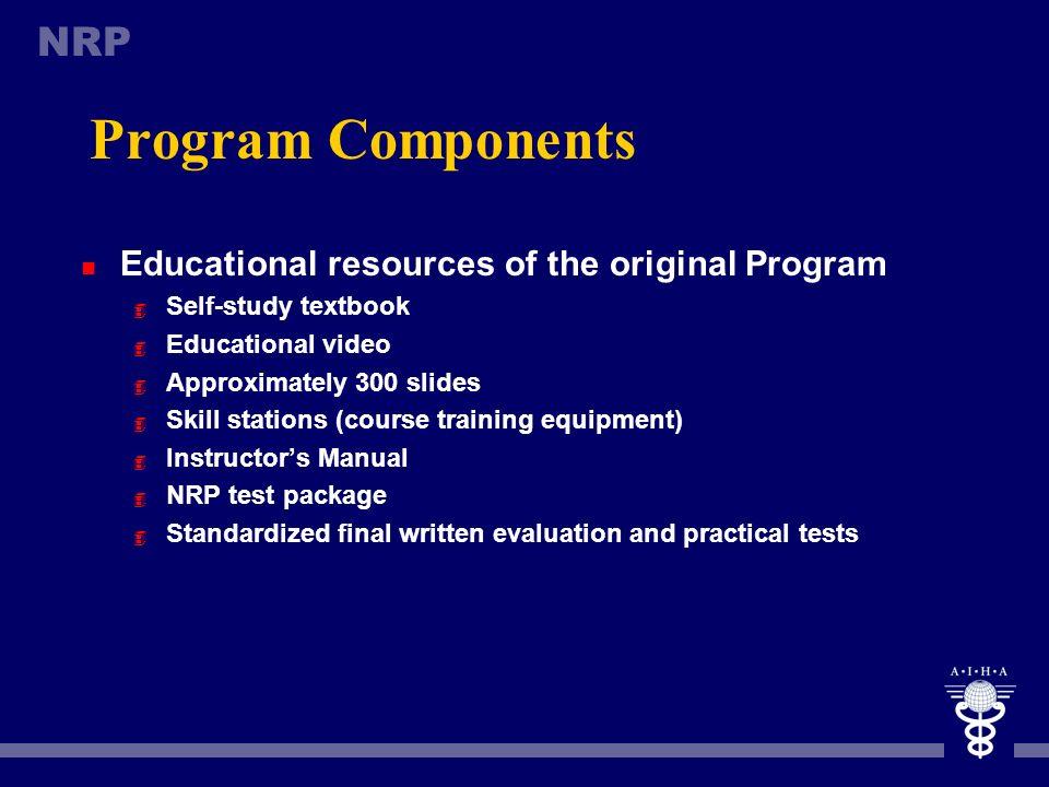 Program Components Educational resources of the original Program