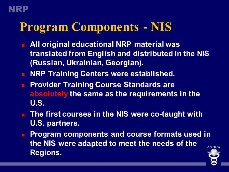 Program Components - NIS