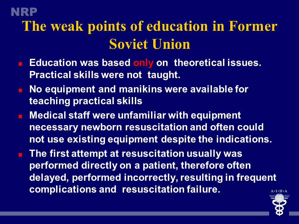 The weak points of education in Former Soviet Union