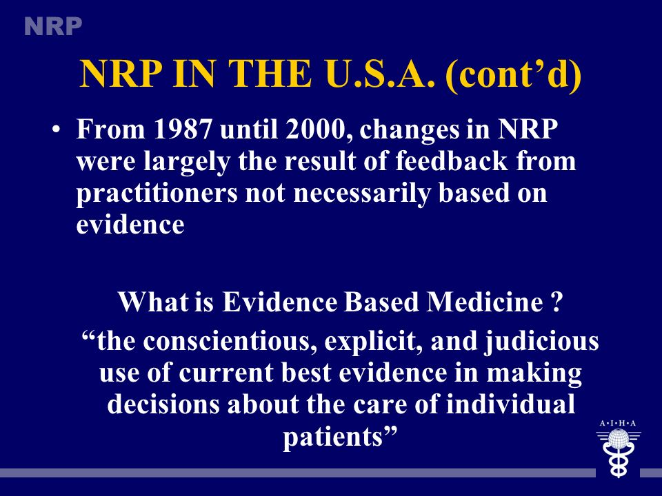 NRP IN THE U.S.A. (cont'd)