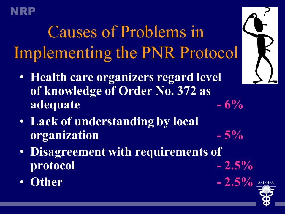 Causes of Problems in Implementing the PNR Protocol